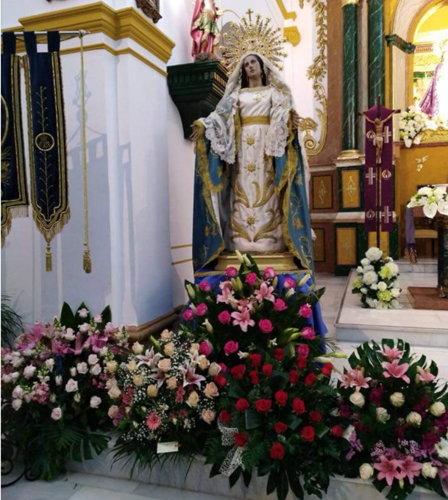 virgen puerto lumbreras flores de semana santa
