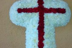 cruz de claveles