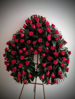corona difunto de rosas