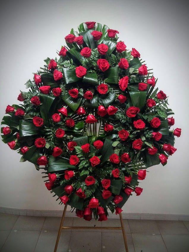 Corona de flores 4c rosas importación