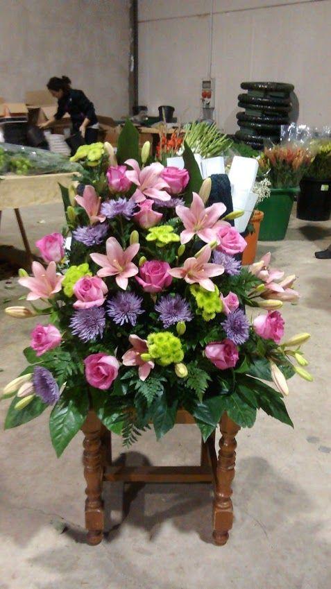centro de flores grande