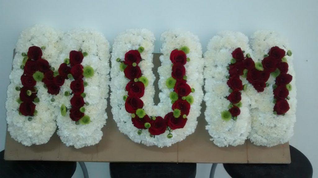 letra flores difunto