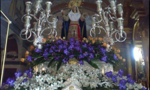 virgen amargura. Orquideas y flores de semana santa